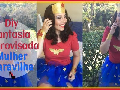 Diy Fantasia SEM COSTURA  - Mulher Maravilha -  Wonder Woman