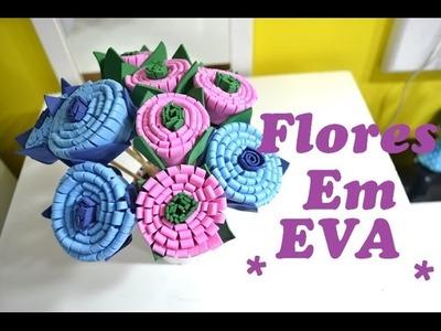 DIY Flores em EVA muito fácil