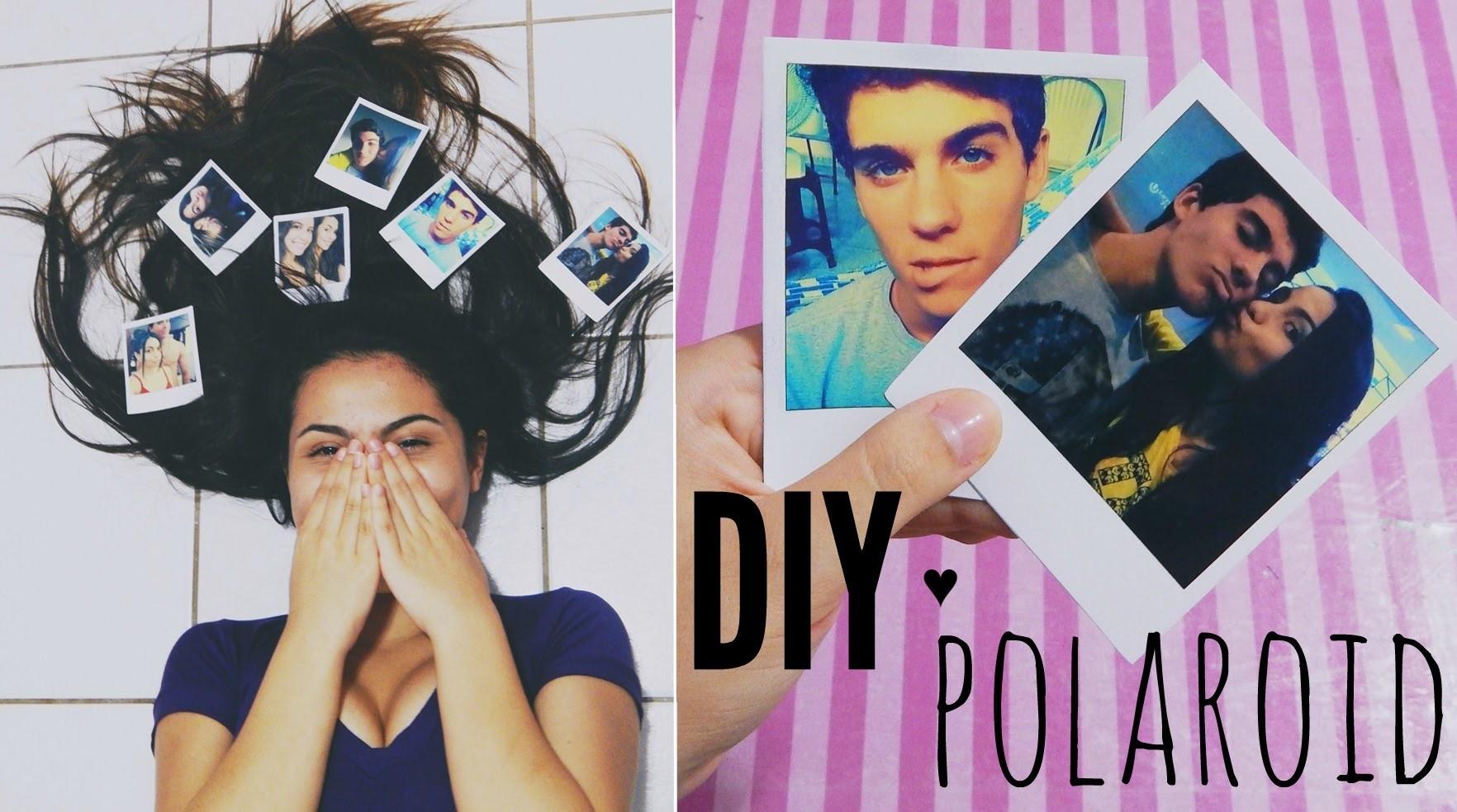 DIY: Foto estilo polaroid   Andressa Moraes