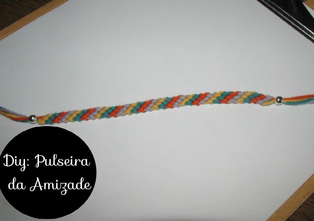 DIY: Friendship Bracelet ( Pulseira da Amizade) na diagonal