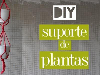 DIY - Hanging garden - suporte para vasos SUPER FÁCIL!