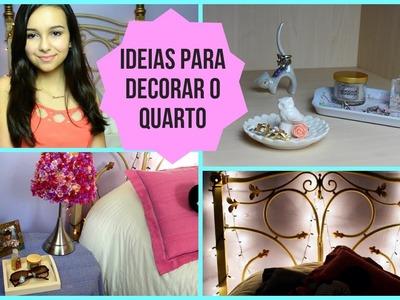 DIY + Ideias para Decorar o Quarto!