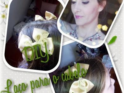DIY: Laço para cabelo (hair bow)