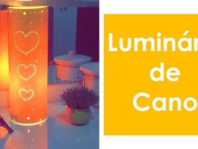 DIY Luminária de Cano PVC -  Passo-a-passo