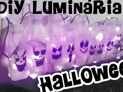 DIY luminária de Halloween