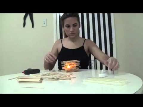 DIY luminária formato estrela com palito de picolé