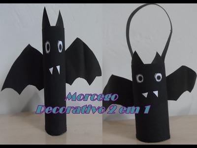 DIY: Morcego Decorativo De Rolo De Papel Higiênico 2 em 1