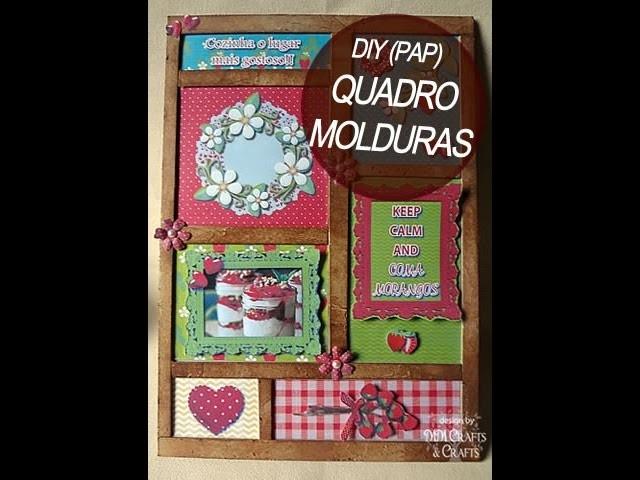DIY (PAP) - Quadrinho com Molduras (cartonagem)