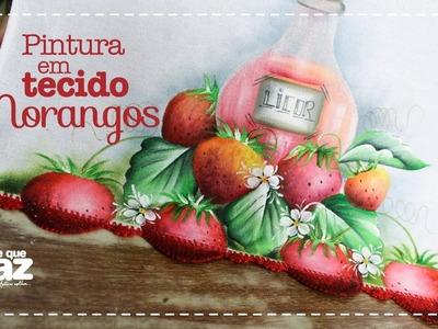 DIY - Pintura em tecido morangos (Katia Giló)