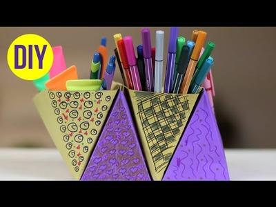 DIY: Porta objetos de cartolina | Fácil e criativo!