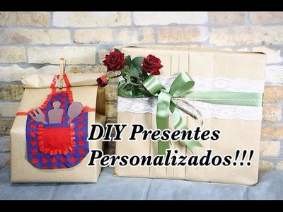 DIY Presente Embrulho Personalizado