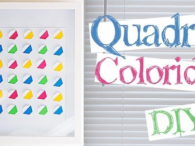 DIY :: Quadro colorido com recorte