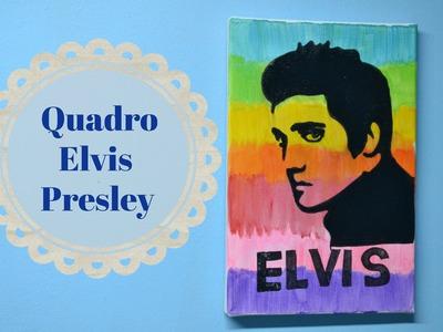 DIY: Quadro Elvis Presley ʕ•ᴥ•ʔ