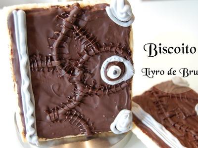 DIY Receita Biscoito Livro de Bruxa  #Halloween food 22