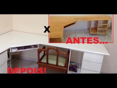 DIY: Reformando minha escrivaninha