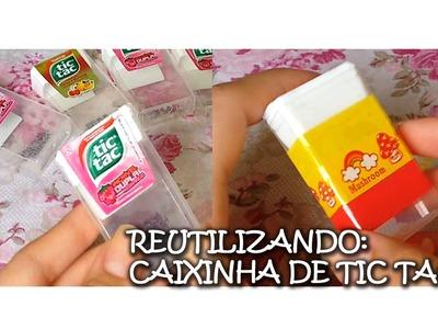 DIY: Reutilizando Embalagens de Tic Tac, por Karolina Lopes