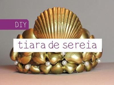 DIY Tiara de Sereia Dourada