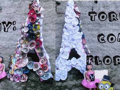 DIY : Torre Eiffel com flores de papel