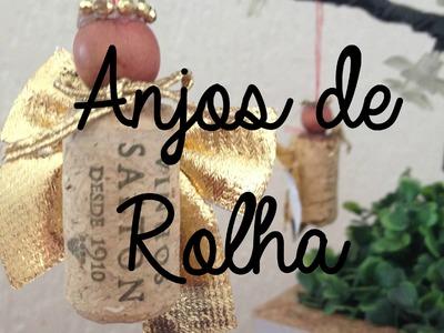 Enfeites de natal - Anjos de Rolha DIY