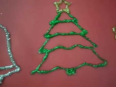 Especial de Natal #1 Diy: Enfeites de Natal de cola quente!