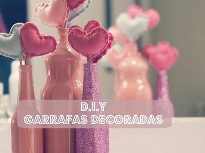 FAÇA VOCÊ MESMO (D.I.Y) - GARRAFAS DE VIDRO DECORADAS