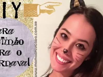 Faça você mesmo: tiara gatinho carnaval criança