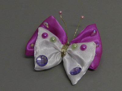 Fivela - Borboleta de tecido - tissue Butterfly -D.I.Y.