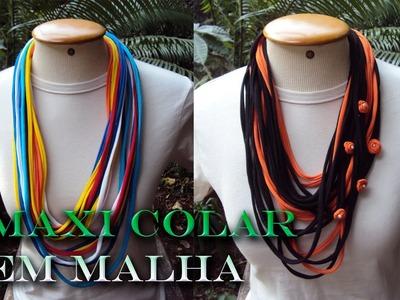 Maxi Colar em Malha - Tutorial DIY