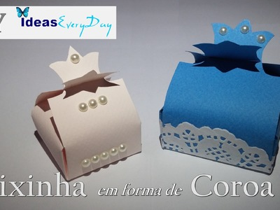 Molde de caixas com coroa - DIY - Boxes for gifts with crown