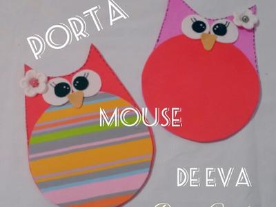 """Mouse Pad de """"Eva Coruja""""= Diy"""