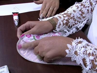 Mulher.com 08.05.2015 Claudia Ferreira - Pantufas em tecido sem costura
