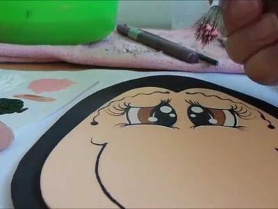 Pintando Olhinhos no E.V.A- Passo a passo!