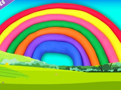 Play Doh Rainbow | Arco iIris de Plasticina | Play doh Creations by HooplakIdz Portugues!