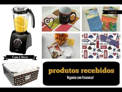 Produtos recebidos- organização, decor, limpeza e DIY | Organize sem Frescuras!
