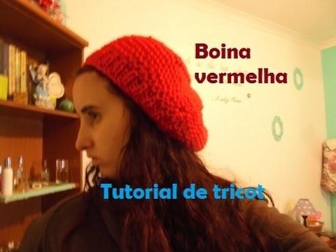 Tutorial de tricot - boina vermelha