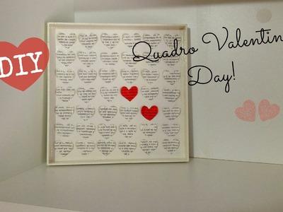 Valentine's Day.Dia dos namorados - Como fazer um Quadro de Corações - Fácil DIY #inspire-se
