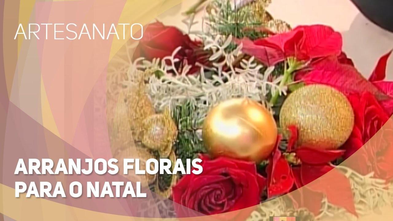 Artesanato - Arranjos florais para o natal (26.11.2014)