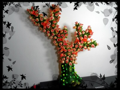 Artesanato - Árvore de Flores.