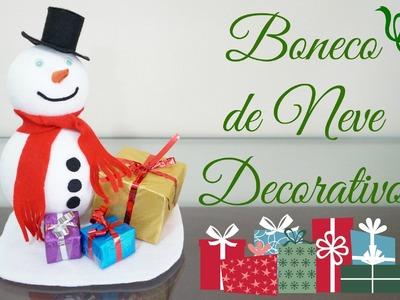 Boneco de Neve Decorativo DIY