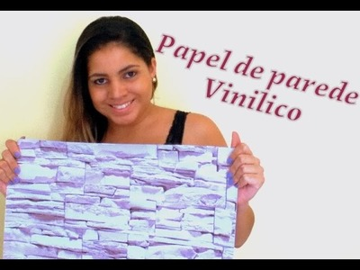 Como aplicar papel de parede autoadesivo que imita pedra | DIY por Anne Augusto