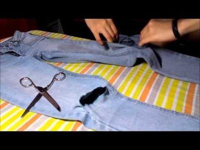 Como cortar calça nos joelhos - Faça você mesma