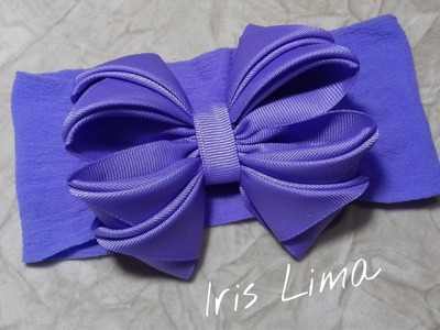 Como fazer laço mil faces Diy ,Tutorial , Pap By Iris Lima How To Make a Hair Bow