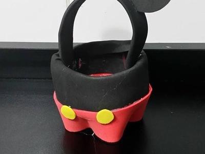 Como fazer lembrancinha do Mickey em eva e garrafa pet , sacolinha surpresa do Mickey em eva DIY