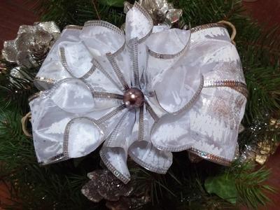 Como fazer um laço de Natal - DIY - Christmas bow tutorial