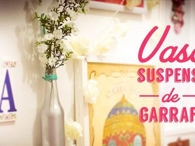 Como fazer um vaso suspenso de garrafa | DIY - decoração