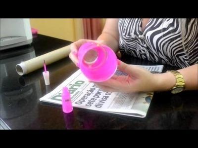 Como pintar copo de vidro com esmalte