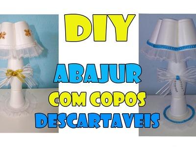 DIY abajur com copos descartáveis ( Centro de mesa chá de bebê)
