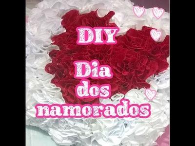DIY -  Almofada de coração (decoração, namorado, mãe, natal) Faça você mesma