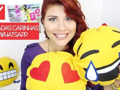 ✄ DIY: Almofadas Carinhas do Whatsapp | DIY: Cushion Emoticons of Whatsapp | Iryane Carollyne