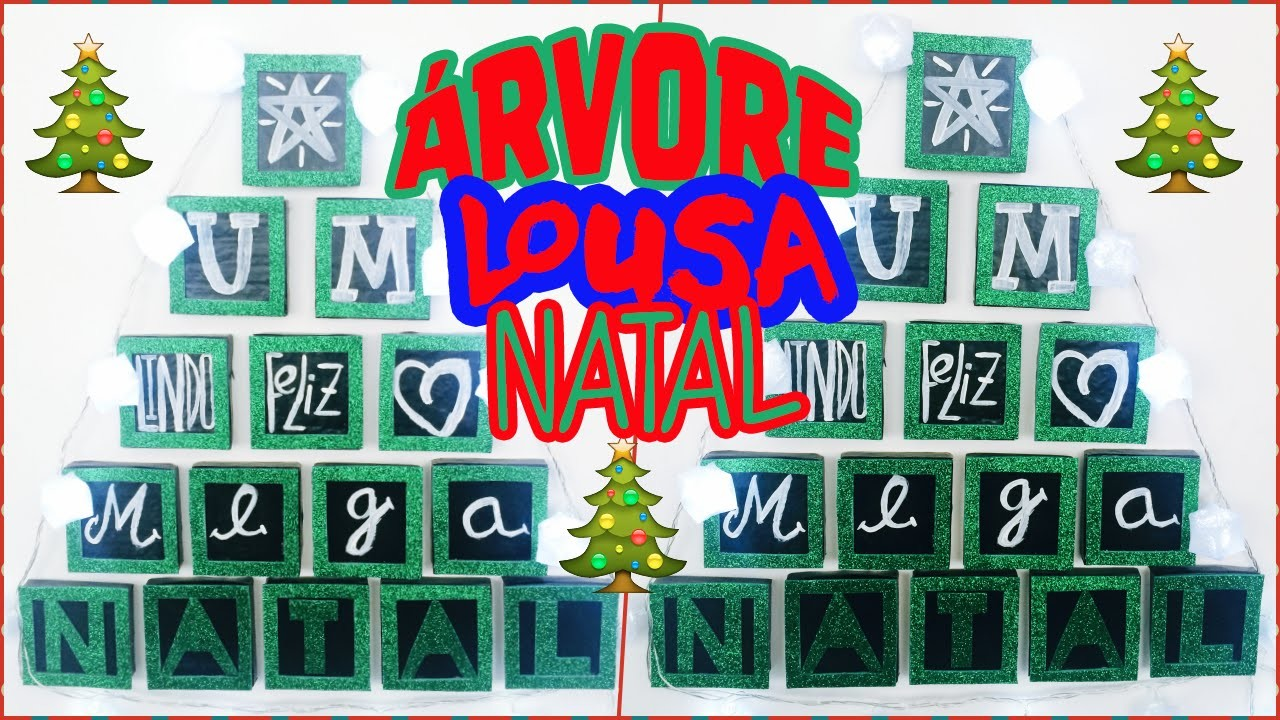 Diy:: Árvore de Lousa de Natal -#PROJETO DIY NATAL -Diy Christmas tree|Tatiane Xavier